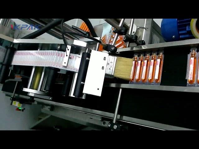 Máquina etiquetadora automática de tubos de sangre para recolección