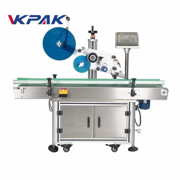 Máquinas de etiquetado superior de superficie plana automática para cajas de cartón
