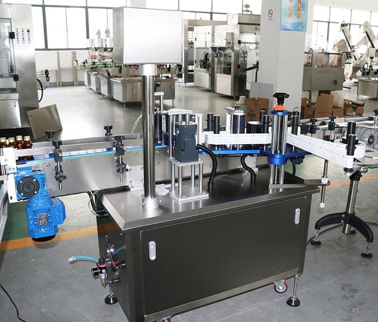 Máquina automática de etiquetado de etiquetas adhesivas adhesivas para botellas redondas