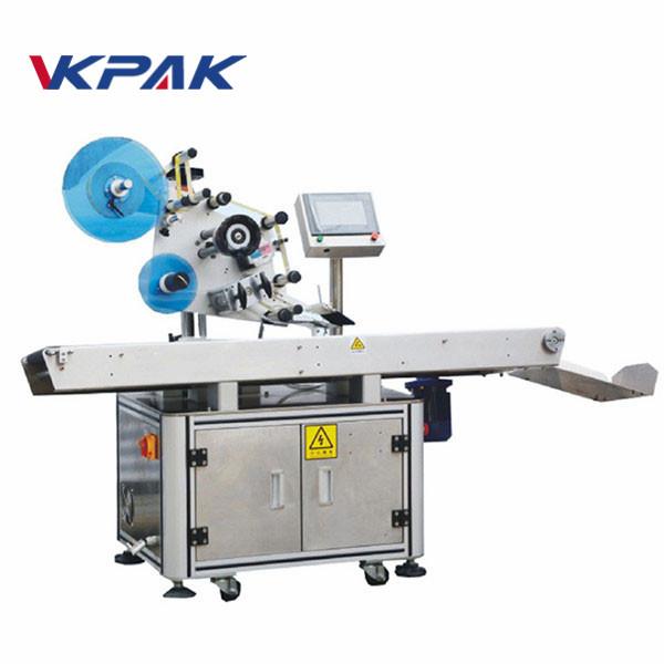 Máquina etiquetadora automática de aplanamiento adhesivo plano de superficie superior