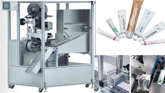 Etiquetadora automática de tubos para detalles de tubos de loción de pasta y crema