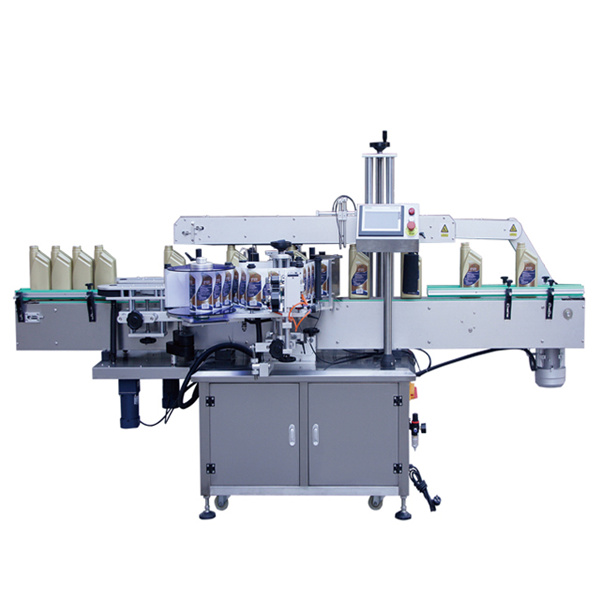 Máquina automática de etiquetado de etiquetas adhesivas de dos lados delanteros y traseros