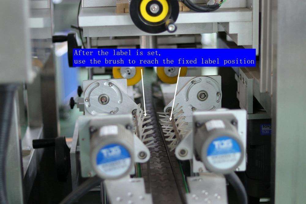 Máquina de etiquetado automática de mangas retráctiles de sellado de tapas de cuello de botella