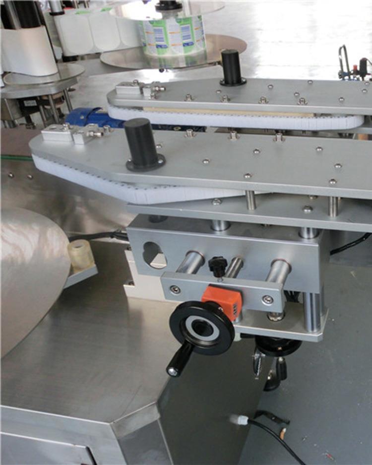 Máquina de etiquetado de doble cara de botella plana para varios tarros de botella cuadrada plana