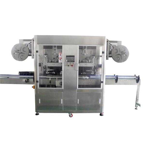 Máquina de etiquetado retráctil completamente automática de cuello de botella y cuerpo de dos cabezas