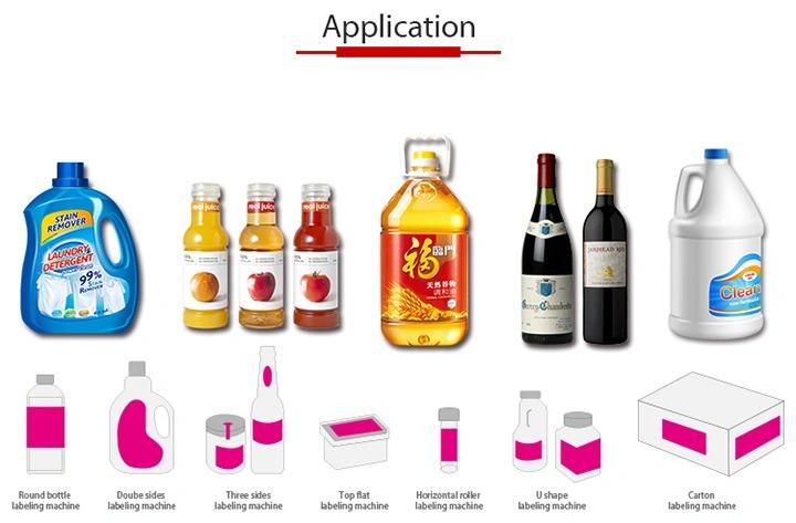 Etiquetadora de etiquetas adhesivas completamente automática para botellas de vidrio autoadhesivas