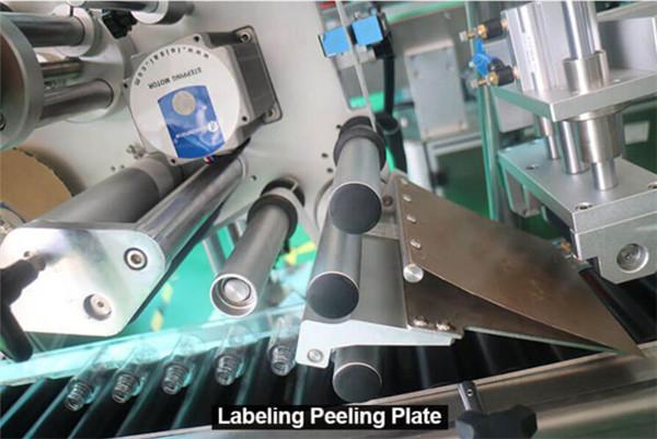 Envoltorio horizontal de alta velocidad Botellas redondas Frascos Jeringas Etiquetado Detalles del equipo