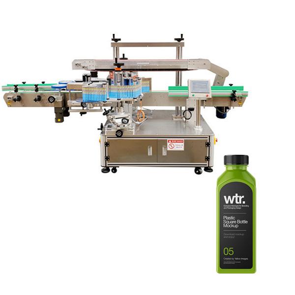 Máquina de etiquetado de botellas cuadradas