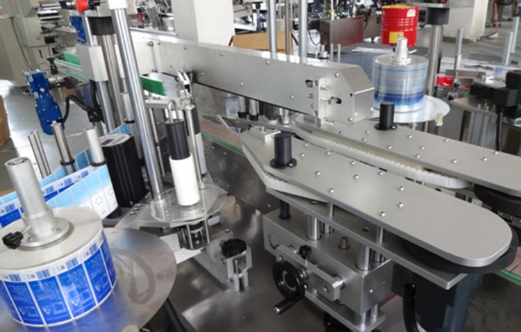 Máquina etiquetadora vertical de doble cara frontal y posterior de botellas de plástico